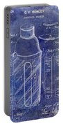 1930 Cocktail Shaker Patent Blue Portable Battery Charger