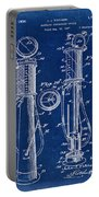 1930 Gas Pump Patent In Blue Portable Battery Charger