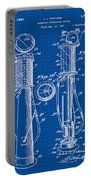1930 Gas Pump Patent In Blue Print Portable Battery Charger