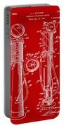 1930 Gas Pump Patent In Red Portable Battery Charger