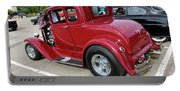 1930 Red Ford Model A-rear-8902 Portable Battery Charger