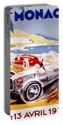1936 F1 Monaco Grand Prix  Portable Battery Charger by Georgia Fowler