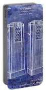 1936 Gas Pump Patent Blue Portable Battery Charger