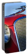 1937 Cadillac V8 Hood Ornament 2 Portable Battery Charger by Jill Reger