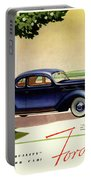 1937 Ford Car Ad Portable Battery Charger