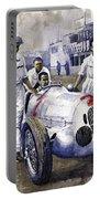 1937 Italian Gp Mercedes Benz W125 Rudolf Caracciola Portable Battery Charger
