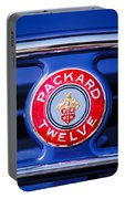 1937 Packard 12 Coupe Roadster Emblem Portable Battery Charger