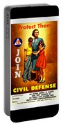 1942 Civil Defense Poster By Charles Coiner Portable Battery Charger