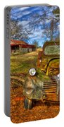 1947 Dodge Dump Truck Country Scene Art Portable Battery Charger