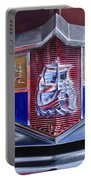 1949 Plymouth P-18 Special Deluxe Convertible Emblem Portable Battery Charger by Jill Reger
