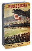 1950 Phillies Vs Yankees World Series Guide Portable Battery Charger