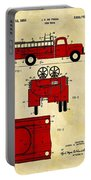 1950 Red Firetruck Patent Portable Battery Charger