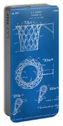 1951 Basketball Net Patent Artwork - Blueprint Portable Battery Charger by Nikki Marie Smith