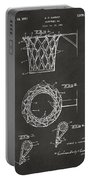 1951 Basketball Net Patent Artwork - Gray Portable Battery Charger
