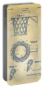 1951 Basketball Net Patent Artwork - Vintage Portable Battery Charger by Nikki Marie Smith