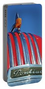 1951 Pontiac Chief Hood Ornament 2 Portable Battery Charger by Jill Reger
