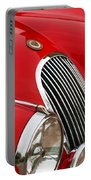 1952 Jaguar Xk 120 Grille Emblem Portable Battery Charger