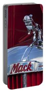 1952 L Model Mack Pumper Fire Truck Hood Ornament Portable Battery Charger by Jill Reger