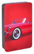 1953 Corvette Classic Vintage Sports Car Automotive Art Portable Battery Charger