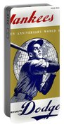 1953 Yankees Dodgers World Series Program Portable Battery Charger