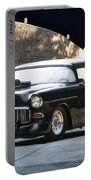 1955 Chevrolet Coupe 'sinister Chevy' Portable Battery Charger