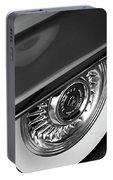 1956 Cadillac Eldorado Wheel Black And White Portable Battery Charger