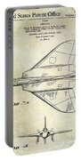 1956 Jet Airplane Patent 2 Blue Portable Battery Charger
