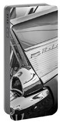 1957 Chevrolet Bel Air Tail Light Emblem -0140bw Portable Battery Charger