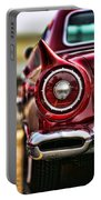 1957 Ford Thunderbird Red Convertible Portable Battery Charger