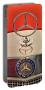 1957 Mercedes-benz 220 S Hood Ornament Portable Battery Charger