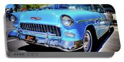 1955 Chevy Baby Blue Portable Battery Charger