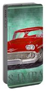 1958 Impala By Chevrolet Portable Battery Charger