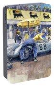 1958 Targa Florio Porsche 718 Rsk Behra Scarlatti 2 Place Portable Battery Charger