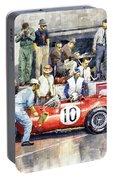 1961 Le Mans 1961 Ferrari 250 Tri Olivier Gendebien Phil Hill Winner  Portable Battery Charger