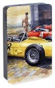 1961 Spa-francorchamps Ferrari Garage Ferrari 156 Sharknose  Portable Battery Charger