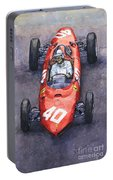 1962 Monaco Gp Willy Mairesse Ferrari 156 Sharknose Portable Battery Charger