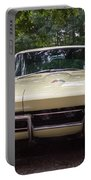 1965 Yellow Corvette Sting Ray  Portable Battery Charger