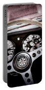 1966 Jaguar Xk-e Steering Wheel Emblem -2489ac Portable Battery Charger