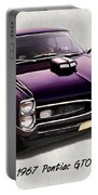 1967 Purple Pontiac Gto Portable Battery Charger