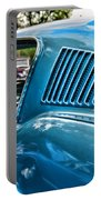 1968 Ford Mustang Fastback In Blue Portable Battery Charger