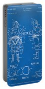 1968 Hard Space Suit Patent Artwork - Blueprint Portable Battery Charger by Nikki Marie Smith