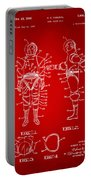 1968 Hard Space Suit Patent Artwork - Red Portable Battery Charger