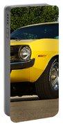 1970 Hemi 'cuda - Lemon Twist Yellow Portable Battery Charger