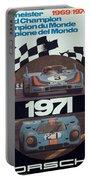 1971 Porsche World Champion Poster Portable Battery Charger