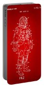 1973 Astronaut Space Suit Patent Artwork - Red Portable Battery Charger by Nikki Marie Smith