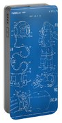 1973 Space Suit Elements Patent Artwork - Blueprint Portable Battery Charger by Nikki Marie Smith