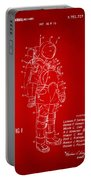 1973 Space Suit Patent Inventors Artwork - Red Portable Battery Charger