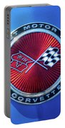 1974 Corvette Sting Ray Convertible Emblem Portable Battery Charger