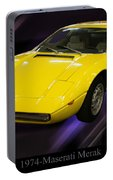1974 Maserati Merak Portable Battery Charger