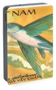 1984 Vietnam Flying Fish Postage Stamp Portable Battery Charger